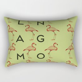 Flamingo #3 Rectangular Pillow