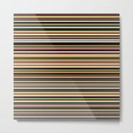 Old Skool Stripes - The Dark Side - Horizontal Metal Print