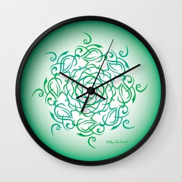 Namaste Mandala Glow - Bright Green Wall Clock