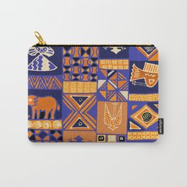 African Batik Collage Carry-All Pouch