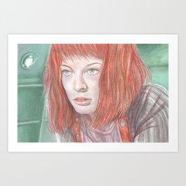 Leeloo - the Fifth Element Art Print