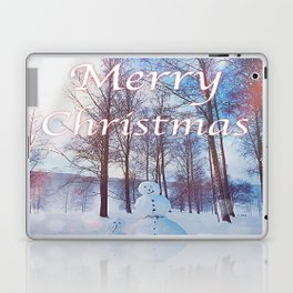 Merry Christmas Snowman Laptop & iPad Skin