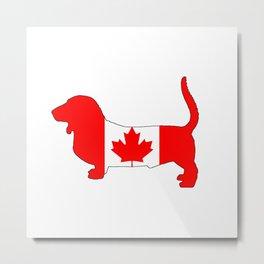 "Basset Hound ""Canada"" Metal Print"
