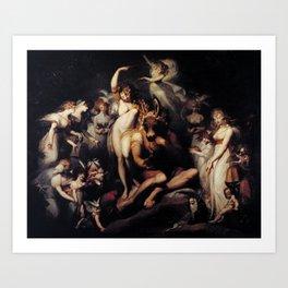 Johann Heinrich Füssli (Henry Fuseli) - Titania and Bottom Art Print