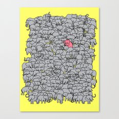 Stand out  & be herd Canvas Print