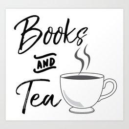 Books & Tea Art Print