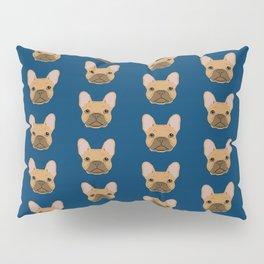French Bulldog fawn coat dog head cute pet portrait custom dog breeds Pillow Sham