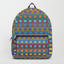 Retro Colors Geometric Stripes Backpack