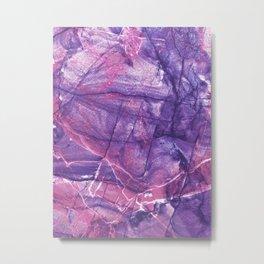 Smokey Ultra Violet and Pink Marble Metal Print