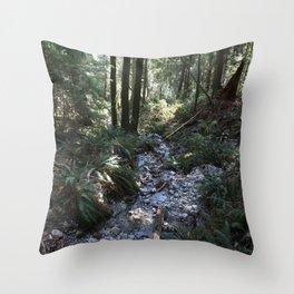 Quarry Rock Deep Cove trail 2 Throw Pillow