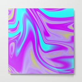 Abstract Fluid 4 Metal Print