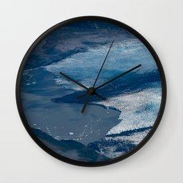 Aerial Glacier - Alaska Wall Clock
