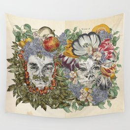 Mars and Venus - Botanical Love Wall Tapestry