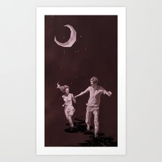 Moonlight Run Art Print