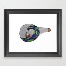 Ship in a Bottle Framed Art Print