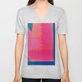 Art abstract pink blue Unisex V-Neck