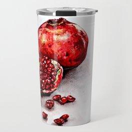 Pomegranate watercolor Travel Mug