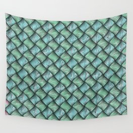 Patchwork Moire Silk Wall Tapestry