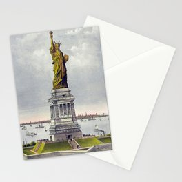 Statue of Liberty Historical Lithograph (1886) Stationery Cards