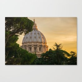 Sunset At The Vatican Canvas Print
