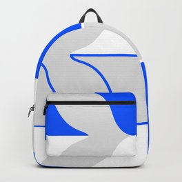 Whales In Cobalt Backpack