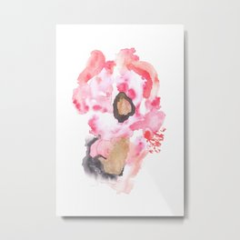 Watercolor Pink Black Flow   [dec-connect] 16. crepping Metal Print