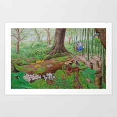 A Day of Forest (5). (dead wood ecosystem) Art Print