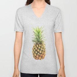 Watercolor pineapple Unisex V-Neck