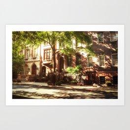 New York City Brownstones Art Print