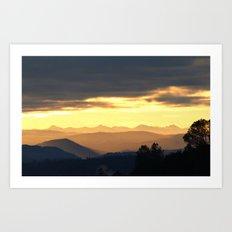 the morning mountains Art Print