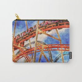Fun on the roller coaster, close up Carry-All Pouch