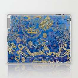 Mexican gold on blue Laptop & iPad Skin