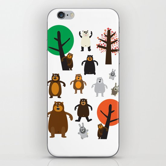 Bears, grizzly and other iPhone & iPod Skin