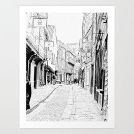 The Shambles in York City Art Print