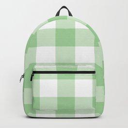 Mint Gingham Pattern Backpack