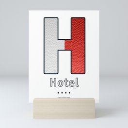 Hotel - Navy Code Mini Art Print