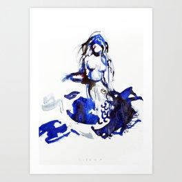 "Fantastic animals ""Sirena"" Art Print"