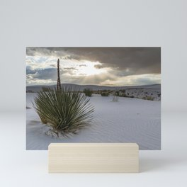 White Sands National Monument and Yucca Plant Mini Art Print