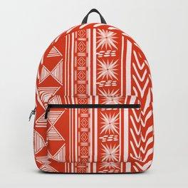Boho Mud Cloth (Coral) Backpack
