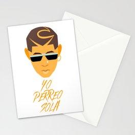 Bad Bunny Yo Perreo Sola. YHLQMDLG. Latina. El Conejo Malo. Reggaeton. Spanish. Latino. Trap Musica Stationery Cards