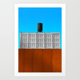 Colorful Manufacture.  Art Print