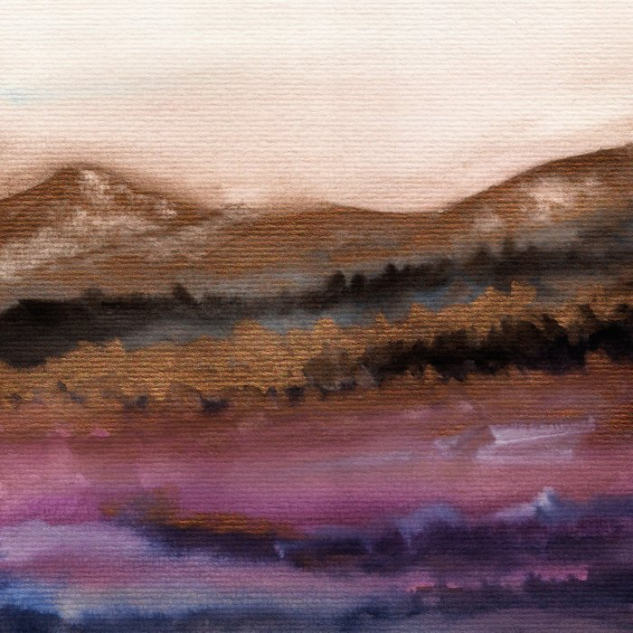 Watercolor abstract landscape 19 Comforters