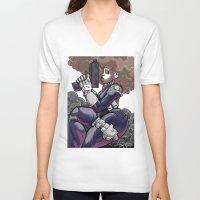 punisher V-neck T-shirts featuring The PuniSher  by DaCreativeGenius