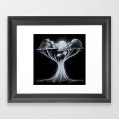 Sharing The Moonlit Sky Framed Art Print