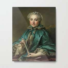 Madame de Livry LOUIS TOCQUÉ 1745 55 Metal Print