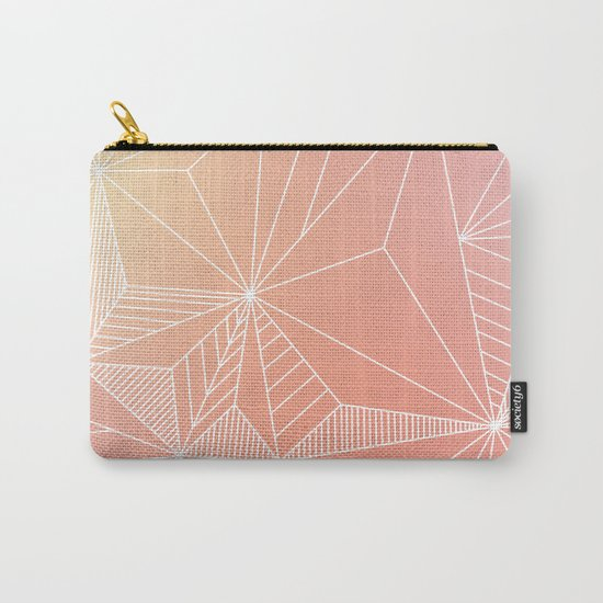 Paradise Geo Blush Carry-All Pouch
