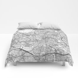 Rotterdam Map Line Comforters