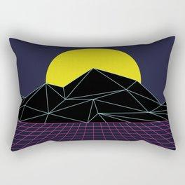 Outrun to the Sun / 80s Retro Rectangular Pillow