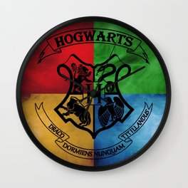 Hogwarts House Crest HP Wall Clock