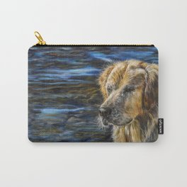 One Wet Golden Retriever by Teresa Thompson Carry-All Pouch